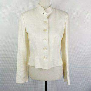 Lauren Ralph Lauren LRL Blazer Jacket Size 6 Linen